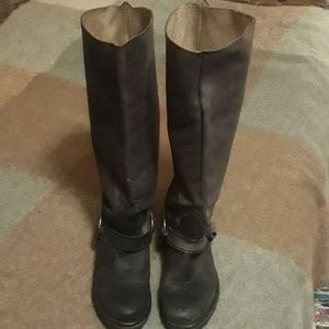 Steve Madden distressed knee high boots